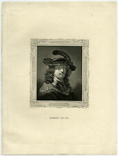 Antique Print-REMBRANDT VAN RIJN-PAINTER-Van Rijn -French-ca. 1850