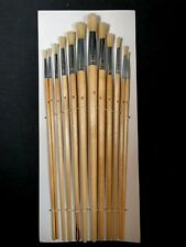 12 PC ROUND TIP XL ARTIST PAINT BRUSH SET PROFESSIONAL QUALITY ART AND CRAFT S41