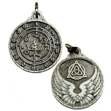 "NEW Saint Michael Archangel Talisman Pewter 1.25"" Amulet Pendant Hermetic Magic"