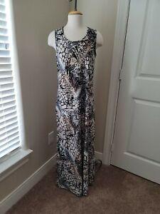 ATTITUDES BY RENEE GREENSTEIN Maxi Dress Sleeveless Animal Print M NEW