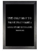 Ernie Banks Motivation und Inspiration Zitat Poster Schwarzweiß Leben Foto