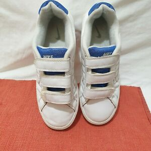 Nike 316771-116 Court Tradition Trainers Shoe White Blue Size uk 5