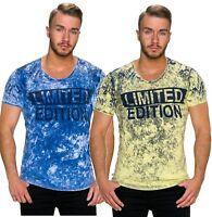 T-shirt maglia maglietta uomo maniche corte cotone sfumata girocollo nuova