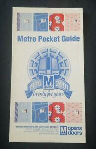 2001 Washington Metro Map - WMATA