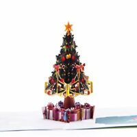3X(Pop Up Christmas Cards Upgrated 3D Christmas Holiday Card With Envelope Ha P2
