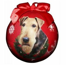 AIREDALE TERRIER CHRISTMAS BALL ORNAMENT DOG HOLIDAY XMAS PET LOVERS GIFT