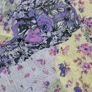 """Floral Lightweight Silky Flowy Textured Fabric 5 1/2 Yards By 50"""""""