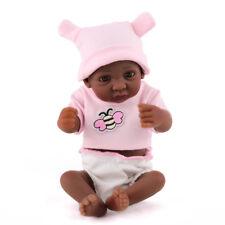 10'' Full Body Silicone Vinyl MINI Reborn Baby Girl Doll Newborn Africa American
