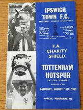 More details for 1962 charity shield - ipswich town v tottenham hotspur