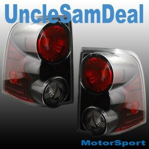 FORD EXPLORER BLACK HOUSING CLEAR LENS ALTEZZA TAIL LIGHTS PAIR DIRECT FIT