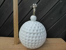 Vintage / Retro Golf Ball Ice Bucket .Large dimpled Golf Ball with Golfer to lid