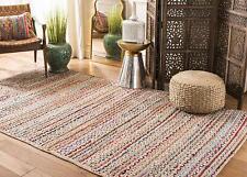 Rug Jute&Cotton Natural Indian Braided Bohemian Rag Rug, Home Decor Runner Rug