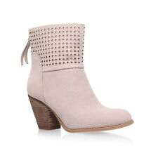 NINE WEST BOOTS  .. RRP £145  NUBUCK LEATHER LASER CUT TOPS / UK 5   US 7  EU 38