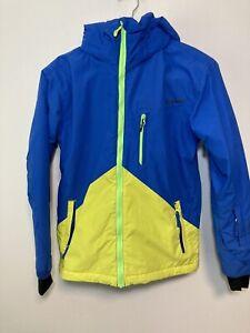 Quiksilver Snowboard Jacket Dry Flight Technology 18K Waterproof Youth 12/M
