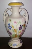Blue Ridge Pottery China 2 Handled Floral Decorated Vase Approx 7 1/2""