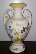"""Blue Ridge Pottery China 2 Handled Floral Decorated Vase Approx 7 1/2"""""""