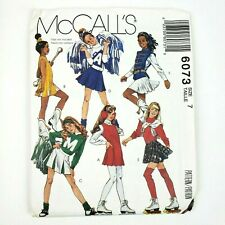 McCall Pattern 6073 Size 7 Girls Costumes Cheer Leader Skater Majorette
