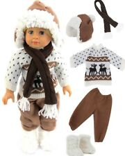 """Christmas Winter Holiday outfit for 18"""" American Girl boy girl doll clothes"""