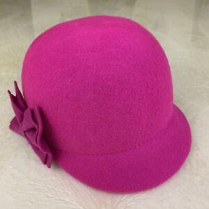 H&M Pink Girls Felt Hat US Size 4-6Y Brand New