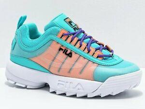 NEW Wmn's (SELECT SZ) FILA Disruptor II Monomesh Casual Shoes Sneakers Aqua
