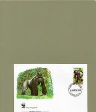 TIMBRE FDC  1 WWF ANIMAUX SINGES GORILLES NIGERIA/WWF STAMPS FDC ANIMALS MONKEYS