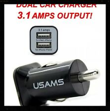 10x Black 3.1Amp Dual Port  Car Charger iPhone