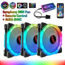 3Pcs 120mm Fans PC Computer Case RGB Cooling Fan Symphony AURA SYNC With