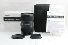 Excellent +++Sigma 18-35mm F1.8 DC HSM Art For Canon