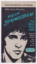 BRUCE SPRINGSTEEN 1980 WPJL 95.5 CLOTH BACKSTAGE PASS EXCELLENT CONDITION