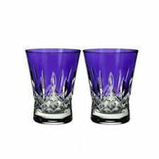 NIB!! Waterford Lismore Pops Double Old Fashioned Glass, Set of 2, Purple