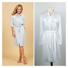 Brand New With Tags VERY VERY White Shirt Dress. SIZE 14.