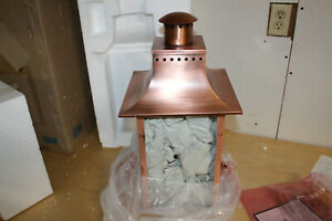 """NEW QUOIZEL CM8412AC CHALMERS 3 LIGHT OUTDOOR FIXTURE ~ AGED COPPER 23"""" ~ NICE!!"""