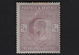 1902 KEVII SG260 2s6d Lilac M48(1) High Value MH Mint Hinged CV £275
