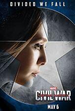 Captain America Civil War Movie Poster (24x36)-Elizabeth Olsen, Scarlet Witch v8