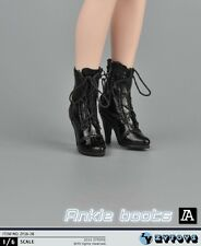 "ZYTOYS 1/6 Black High-Heel Boots Shoes F/12"" Female Figure Body ZY16-28"