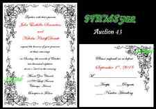 50 Personalized Custom Wedding Invitations Set  Select your color & font style