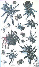 King Horse Spiders Glitter Temporary Tattoos #HM0188