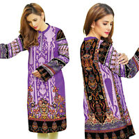 Plus Size Women Indian Pakistani Kurta Kurti Cotton Designer Digital Print Tunic