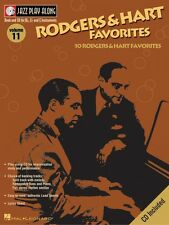 Rodgers & Hart Favorites Jazz Play Along Book and Cd New 000843004