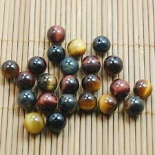30pcs  6mm Natural Gemstone Natural Multi Color Tiger Eye Round Spacer Beads
