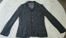DIESEL Black Gold Linen Blazer Jacket Grey Men's Size Small S