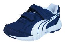 Scarpe Blu sintetico con chiusura a strappo per bambini dai 2 ai 16 anni