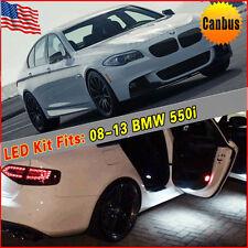 10PCS Pure White Interior Canbus LED Package Kit For 2008-2013 BMW 550i E60 E61