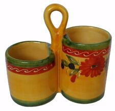 Utensil Holder Kitchen Storage 20 cm X 19 cm Spanish Handmade Ceramic Pottery