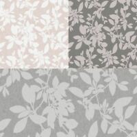 Holden Decor Linden Glitter Gel Textured Leaf 10m Wallpaper 3 Colours
