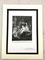 1934 Vintage Francese Stampa Dopo Grand Sfera Aristocracy Lady Boudoir