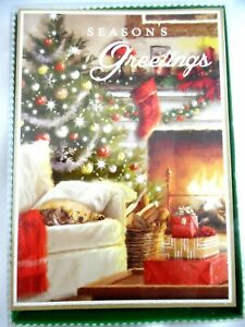 12 Christmas Cards and Envelopes (New Boxed) Cat & Dog All Snuggled Up Together