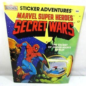 Marvel Super Heroes Secret Wars Sticker Adventures 1984 NOS Spiderman's Shield