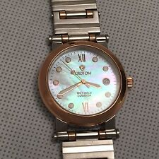 Croton 18K solid gold & stainless steel date men's watch