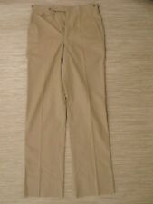 Jack Nicklaus Beige Cotton Blend Golf Pants Men's Size 31x36 Flat Front Made USA